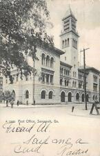 POST OFFICE SAVANNAH GEORGIA FOGG U.S. MARINE CORPS WASHINGTON DC POSTCARD 1909