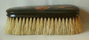 Mauchline Colored Fern Ware Clothes or Hair Brush Excellent Condition Rare Form