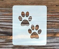Paw Prints Face Painting Stencil 6cm x 7cm 190micron Washable Reusable Mylar