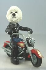 BICHON FRISE   DOG ON A MOTORCYCLE(SEE ALL BREEDS  BODIES @ EBAY STORE