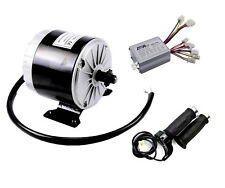 350 W 24V Electric Motor kit Bicycle Go Kart Scooter w Spe Controller & Throttle