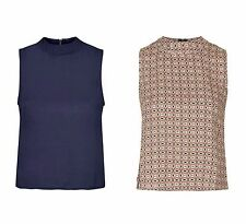 Viscose Collared Casual Sleeveless Tops & Shirts for Women