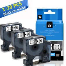 Replace Dymo D1 45013 Label Tape 12mm Black on White Dymo LabelMananger 160 280