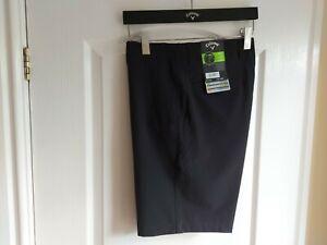 Callaway Active waistline Mens Golf Shorts. 34 Waist. Black, Lightweight.