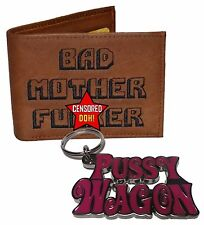 The Original BMF Brown Leather Wallet & Pussy Wagon Key Chain Combo Ohhhh Yeah!