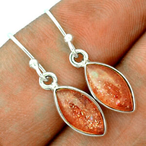 Rainbow Sunstone - Madagascar 925 Sterling Silver Earrings Jewelry BE57599