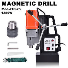 1350w J1c 25 25 Mm Magnetic Base Drill Press Boring 15000n Magnet Force Tapping