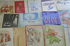 HUGE LOT OF 65+ VINTAGE 1940'S ERA GREETING CARDS MOSTLY ALL CHRISTMAS