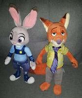 Disney's Zootopia Officer Judy Hopps Plush Bunny Nick Wilde Fox Set