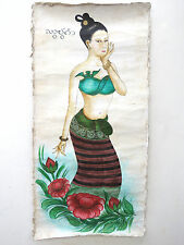 3#Beautiful & Rare Old Thai Painting Cheap Price Don't Miss
