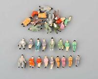 30pcs échelle HO 1:87 Modèle de Personnage Assis Peint Peint Modèle Figurines