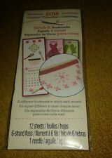 12 Stitch It Bookmarks 2016 - One For Each Month - Kitchen Theme - Studio 18