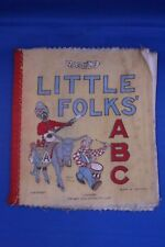 "Vintage Dean's Rag Book ""Little Fokes ABC"" Made in ENGLAND printed on fabric"