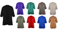 Ladies Short Sleeve Plus Size Open Waterfall Cardigan Womens Stretch Top 8 - 26