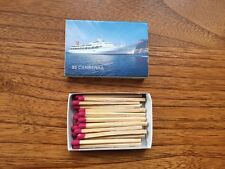 SS Canberra Souvenir Box of Matches. P&O Cruise Ship.Matchbox.Unused 28 matches.