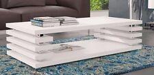 Couchtisch Tisch ZOE Wohnzimmertisch Sofatisch Hochglanz Eiche weiß schwarz matt