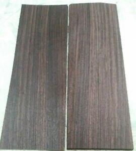 """2 pieces East Indian rosewood veneer 4 5/8"""" x 13 7/8"""" each cracks flat"""