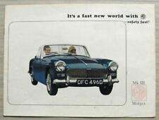 MG MIDGET Mk III Car Sales Brochure c1968 #2398