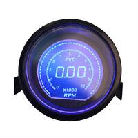 """Universal 2"""" 52mm Blue Red Tacho Tachometer Car Digital LED Light Gauge Meter"""