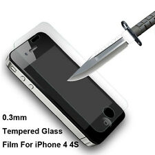 New Explosion Proof Premium Tempered Glass Film Screen Protector for iPhone 4 4S