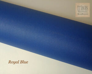 Quality Book cloth- 273 x 250 mm- Durable buckram with paper backing- Royal blue