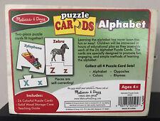Melisa & Doug Alphabet Puzzle Cards Age 4+