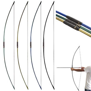 """25-70lbs Traditional Longbow 67"""" English Straight Bow Archery Hunting Target"""
