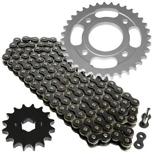 Black Drive Chain And Sprocket Kit for Honda CM400A CM400C CM400E CM400T 79-81