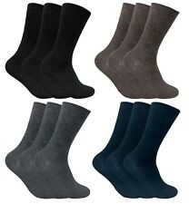 3 Pack Mens Thin Loose Wide Top Non Elastic Binding Warm Thermal Diabetic Socks