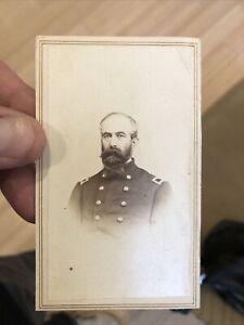 Rare 1860's Civil War CDV Photo Of Colonel Michael Shoemaker (Michigan)