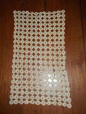 Antique Tan Popcorn Stitch Crocheted Rectangular Doily
