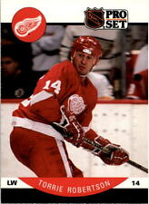 1990-91 PRO SET HOCKEY TORRIE ROBERTSON CARD #77 DETROIT RED WINGS NMT/MT-MINT