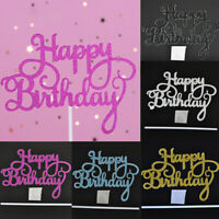 10pcs HAPPY BIRTHDAY Cake Topper Insert Card Acrylic Cake Decoration Party Decor