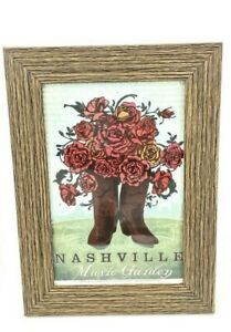 Framed 'Spirit Of Nashville' Collection, Music Garden Photo 4x6
