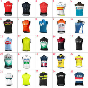2021 Cycling Vest Bicycle vest Sleeveless Cycling Jersey Pockets Cycling Vests
