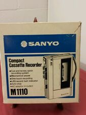 Vintage Rare Sanyo M1110 Stereo Compact Cassette Recorder Player/Box AC Adaptor