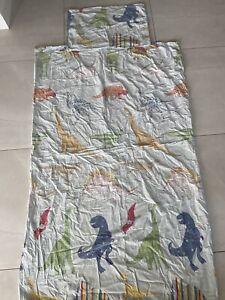 T Rex dinosaur Jurassic Reversible Single duvet Cover Set blue