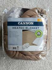 Queen Heated Blanket Cannon Dual Controller 10 hr shutoff Machine Wash New 84x90