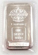 Engelhard 1 Troy Oz 999 Fine Silver Bar! Maple Leaf logo! NO RESERVE!