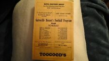 Vintage 1945 Gatesville Texas Hornets Football Program Old Schedule Waco Belton