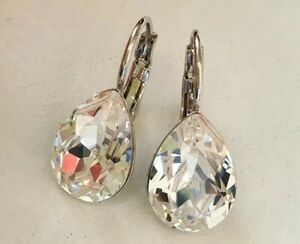 Crystal earrings Drop leverback Earrings Genuine Swarovski element Crystal