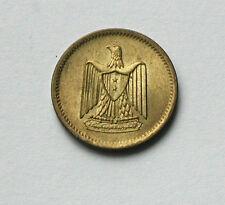 1380/1960 EGYPT Aluminum-Bronze Coin - 1 Millieme - eagle arms - tiny 15mm size