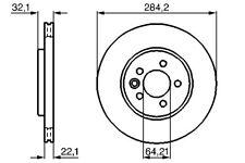 Bendix Front Vented Brake Disc - 284mm Diameter for MG MG ZT- T 2001-2005