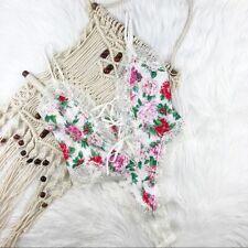 Vintage Victoria Secret floral one piece lingerie gold label sz small nwt