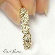 Ring Wedding Women Men's Jewelry Size6-10 14K Solid Yellow Gold White Sapphire