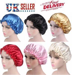 Women Beanie Soft Silk Satin Night Sleep Cap Cover Head Hats Bonnet Hair Elastic
