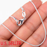 """#BUY 1 GET 1 FREE#925 Sterling Silver Snake Chain Necklace 16 18 20 22 24"""" 1.2mm"""