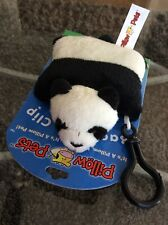 2010 My Pillow Pets Adorable Panda Bear Backpack Clip Brand New - Hard To Find