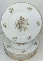 "8 Winterling *EMPRESS MARIA THERESIA* 10 1/4"" DINNER PLATES W/GOLD TRIM*"