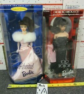 2 Reproduction Enchanted Evening Barbie & Solo in the Spotlight Barbie Dolls LOT